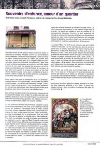 Journal du Conseil du quartier Belleville Paris 20ème