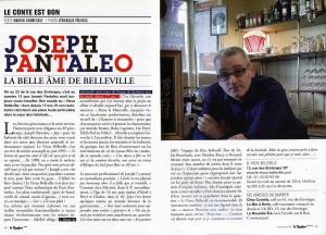 Article dans Le Bonbon : Joseph Pantaléo, La belle âme de Belleville