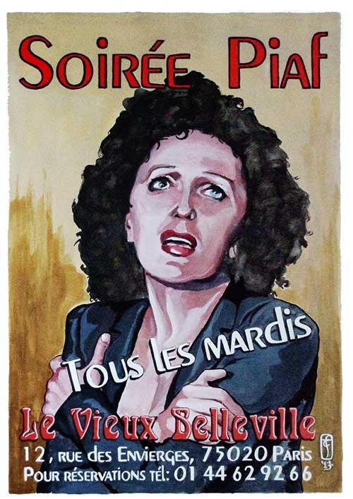 Soirée Piaf tous les mardis soir